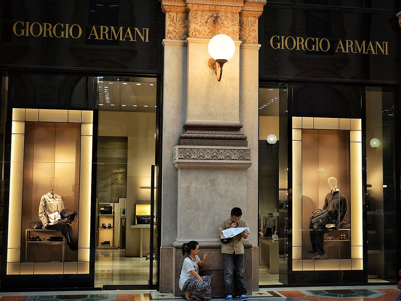 Where is the Armani Store in Milan?