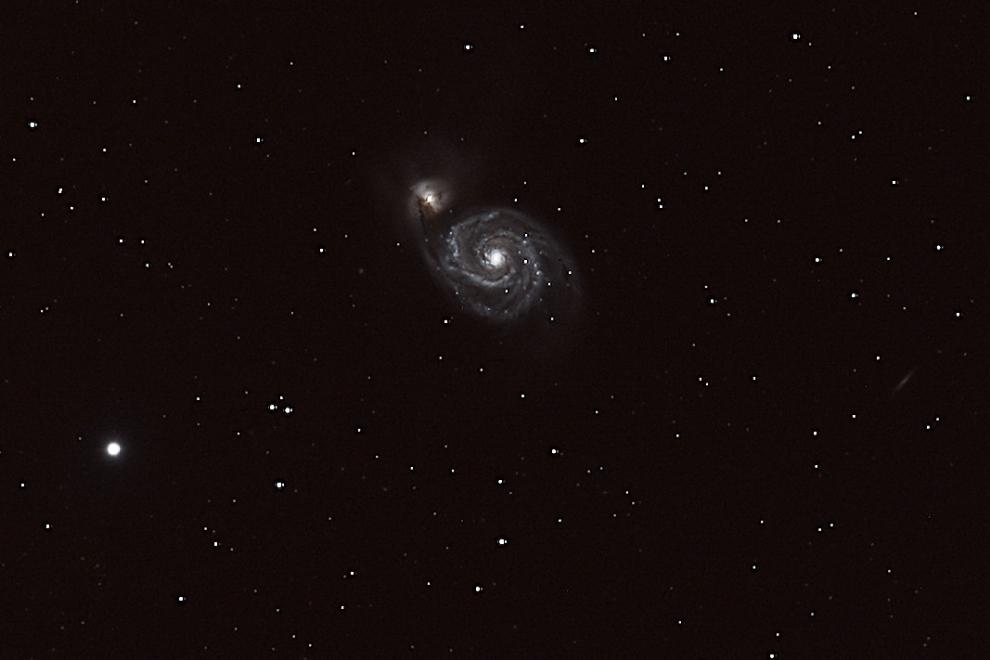 Whirlpool Galaxie M 51 in den Jagdhunden