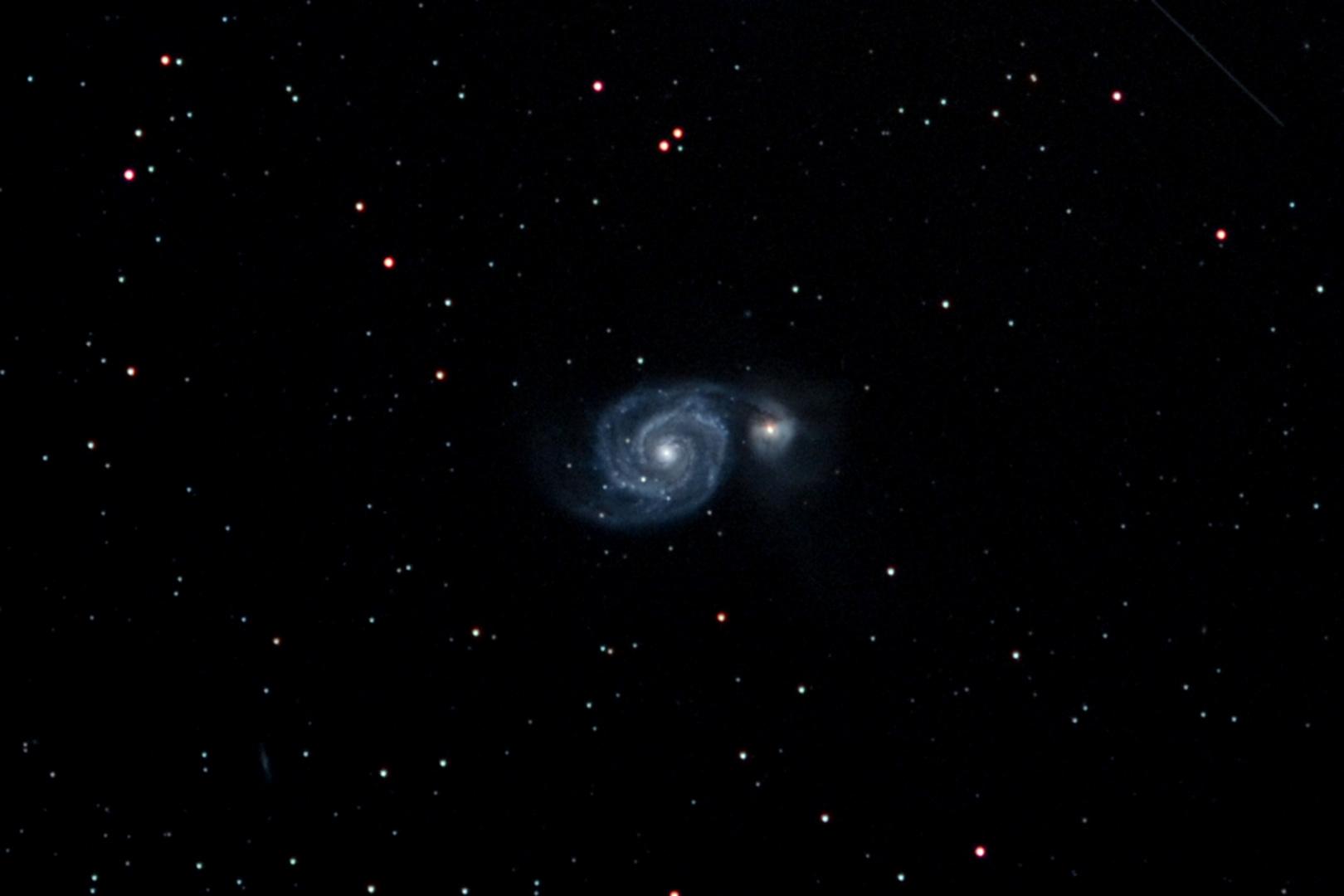 Whirpoolgalaxie M51 in den Jagdhunden