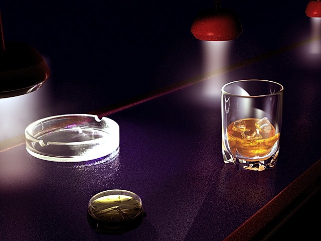whiskey alone in bar