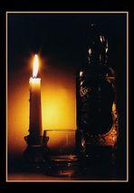 Whisky im Kerzenschein