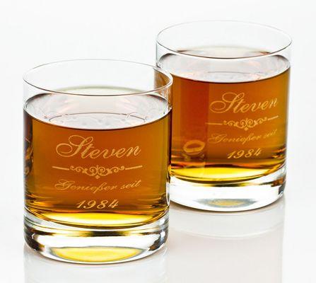 Whiskygläser mit Gravur