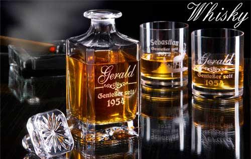 Whiskykaraffe aus Bleikristall