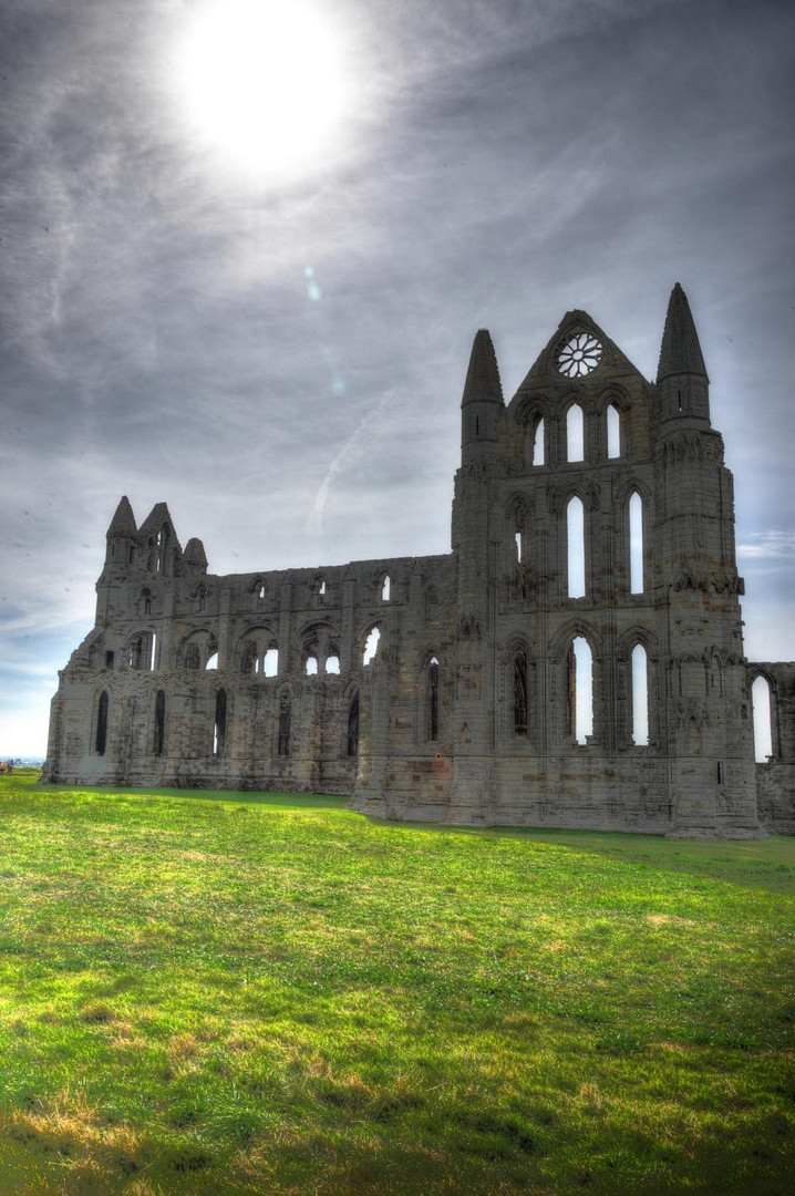 Whitby Abbey in the blazing sunlight (HDR)