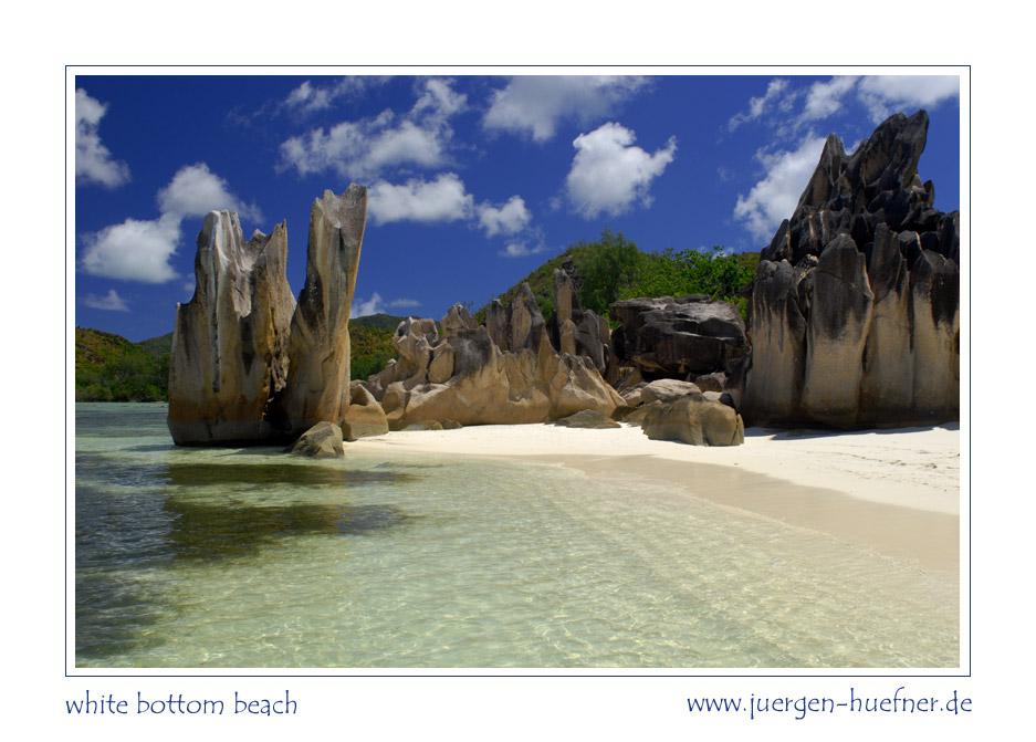 white bottom beach