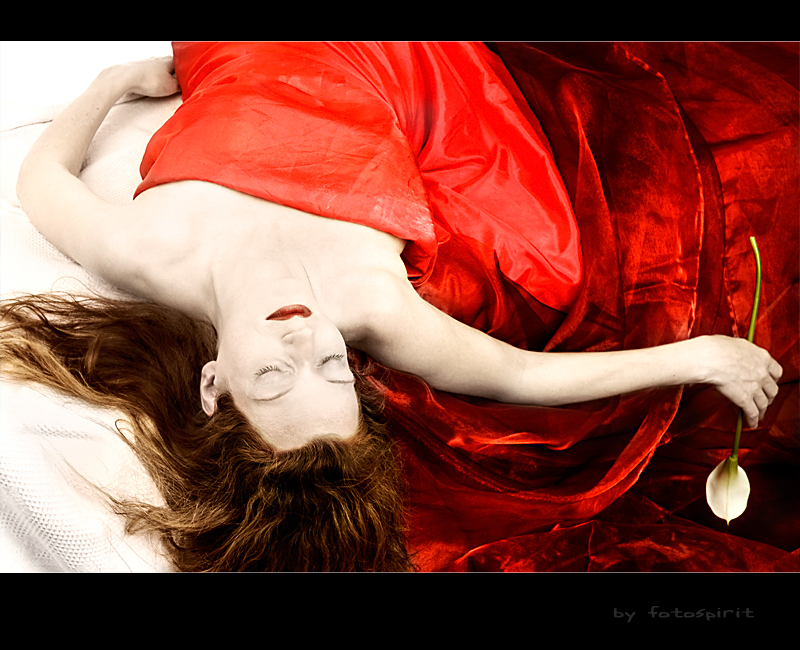 White lies veiled in red linen