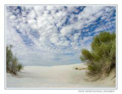White Sands an einem Wolkentag