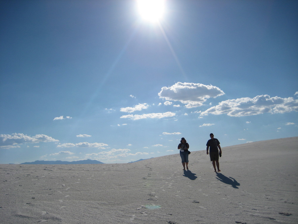 White Sands Wanderung bei über 40°C September 2008