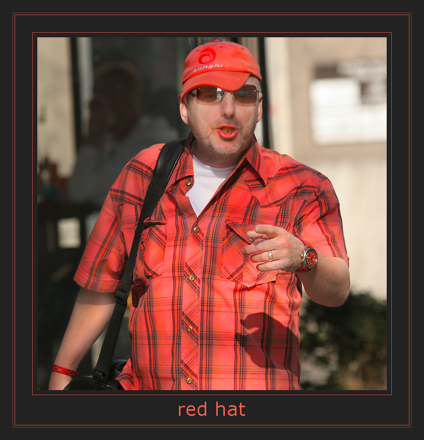 who has seen the red hat?