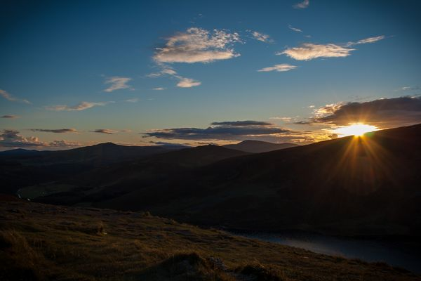 Wicklow Mountains Sunset
