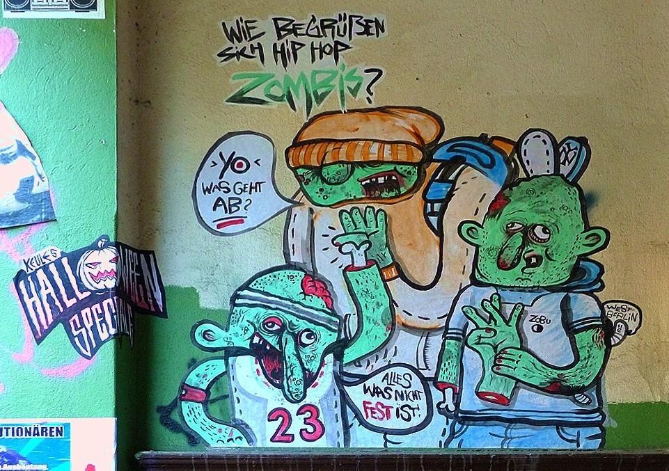 Wie begrüßen sich Hip Hop Zombies?