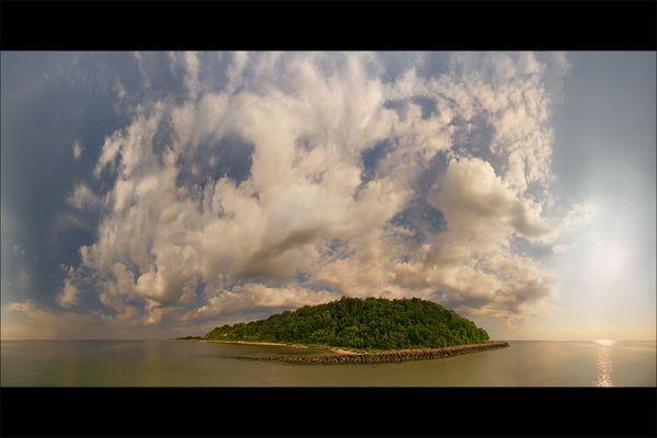 . Wie eine Insel aus der Vogelperspektive .