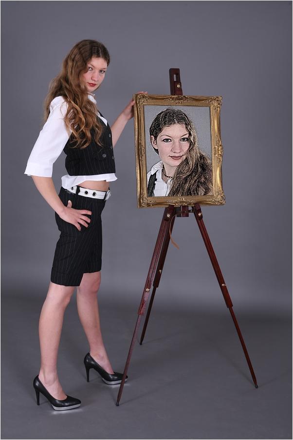 Wie gemalt