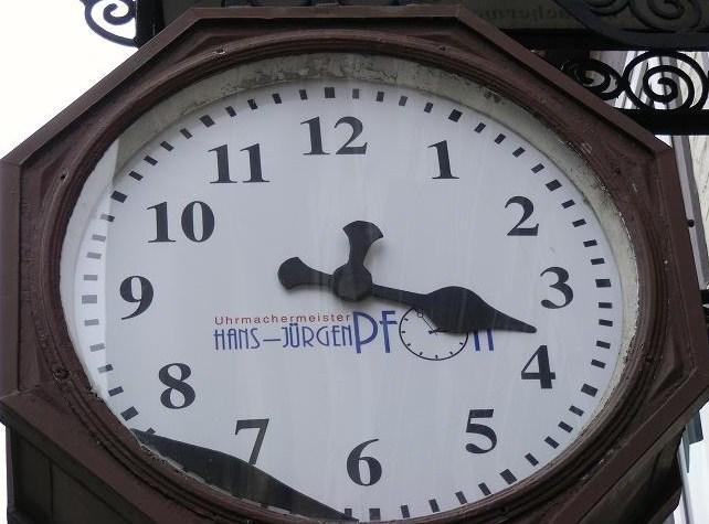 Wie spät?
