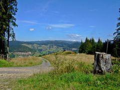 Wiedener Eck: Rollspitzlift, Ausstieg Bergstation 1110m NN mit Feldbergmassiv im Hintergrund