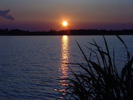 Wieder ein Sonnenuntergang am Cospudener See