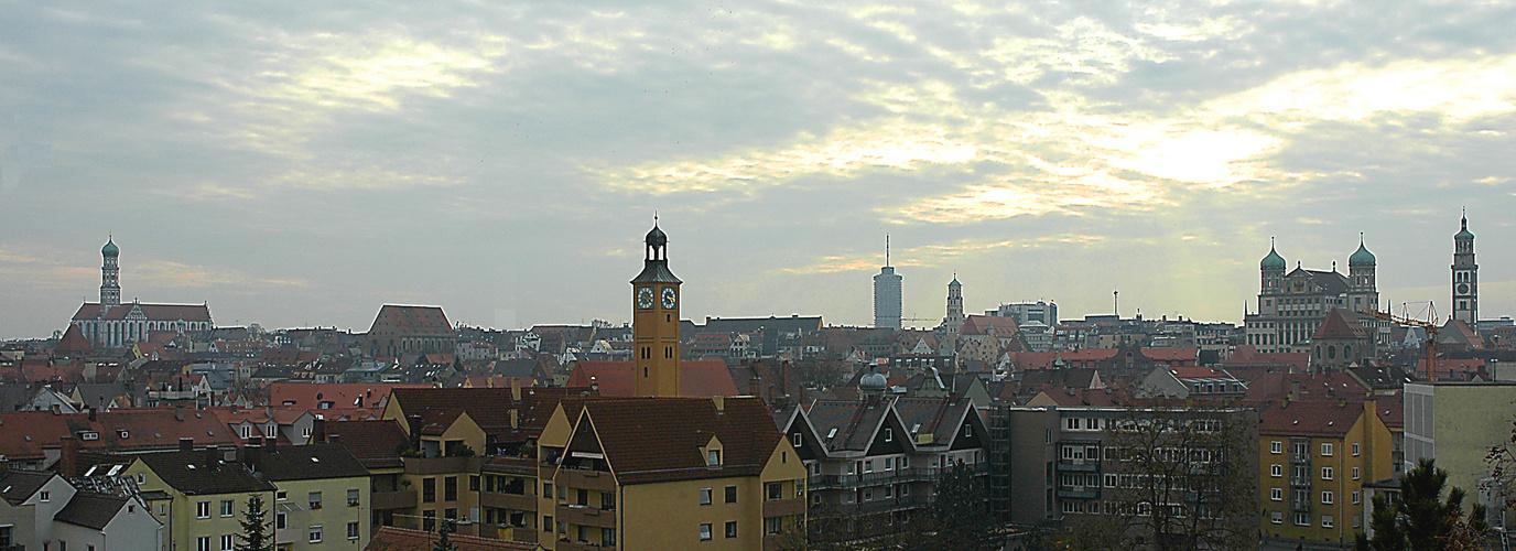 Wieder mal ein Blick über Augsburg