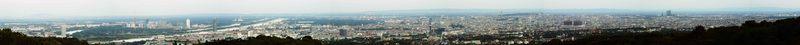 Wien auf dem Weg Zum Leopoldsberg
