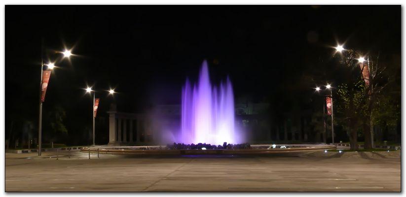 Wien, Hochstrahlbrunnen bei Nacht
