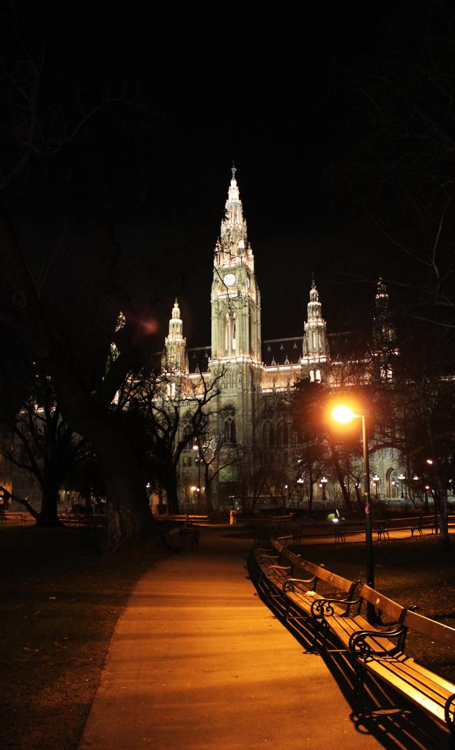 Wien - Rathaus bei Nacht