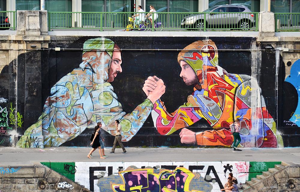 Wien, Street Art am Donaukanal