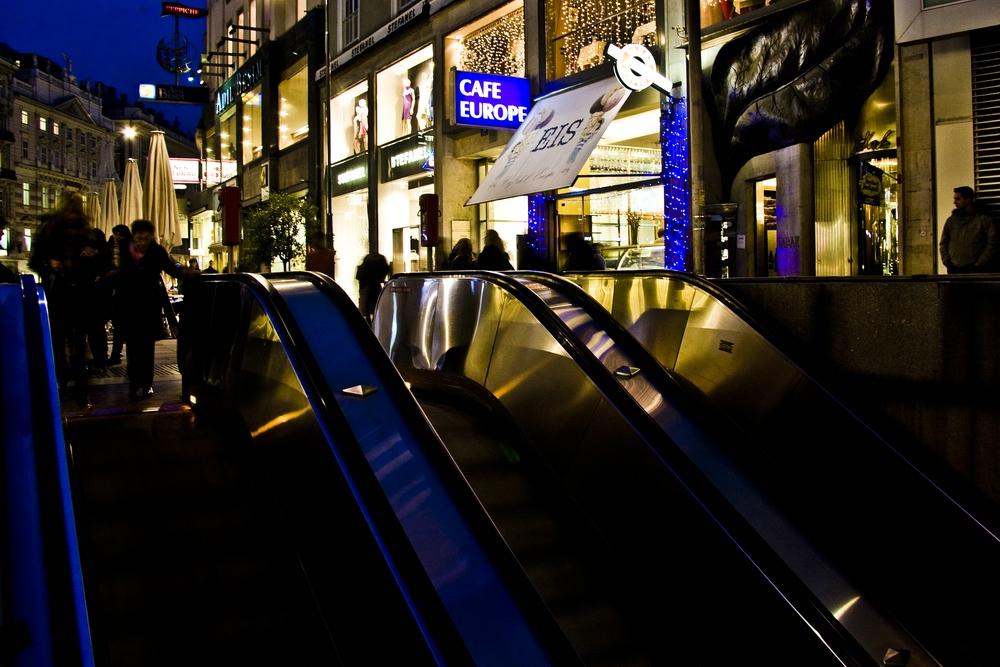 Wiener Innenstadt bei Nacht