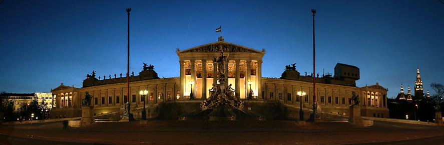 Wiener Parlament stitched
