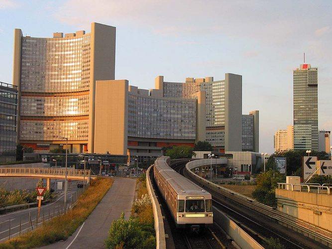 Wiener U-Bahn taucht vor der UNO-City wieder auf