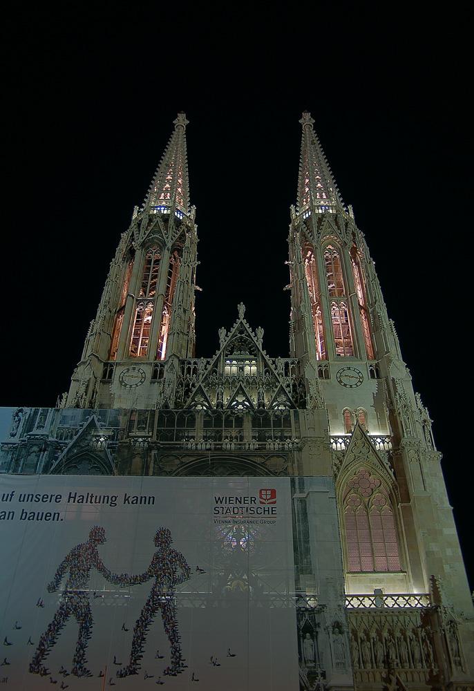 Wiener Votivkirche von unten