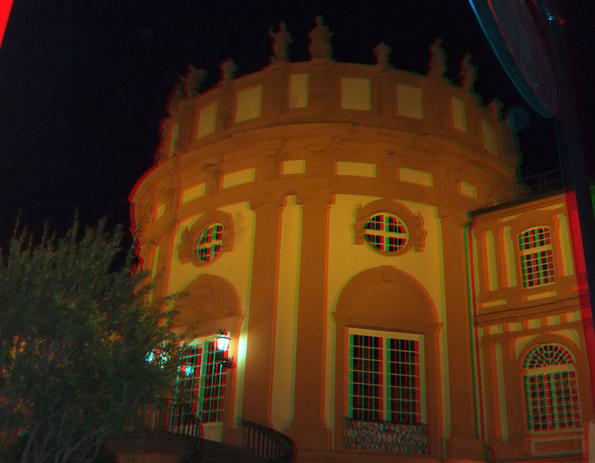 Wiesbaden Biebricher Schloß um Mitternacht