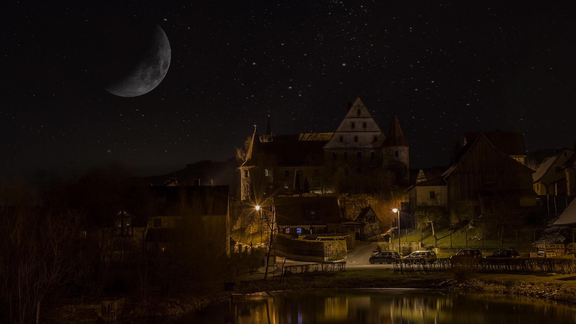 Wiesenthau bei Nacht