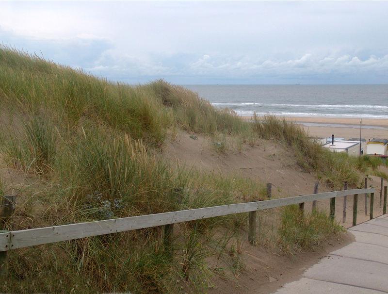 Wijk aan Zee, Holland 2006 runter zum Strand