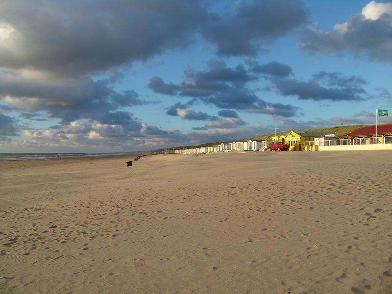 Wijk aan Zee, Holland 2006 Strandhäuser in den Dünen