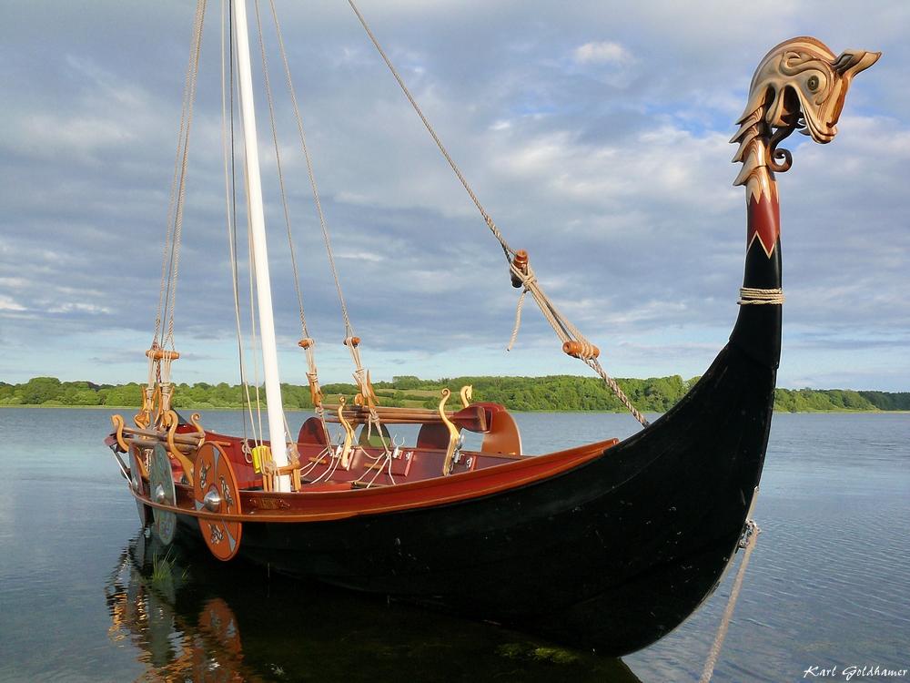 Wikingerboot auf dem Haddebyer Noor