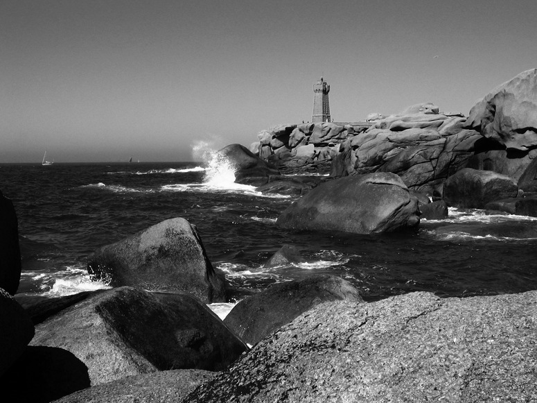 wilde Küste der Bretagne