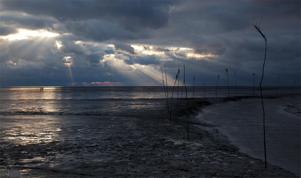Wilder Himmel über'm Wattenmeer