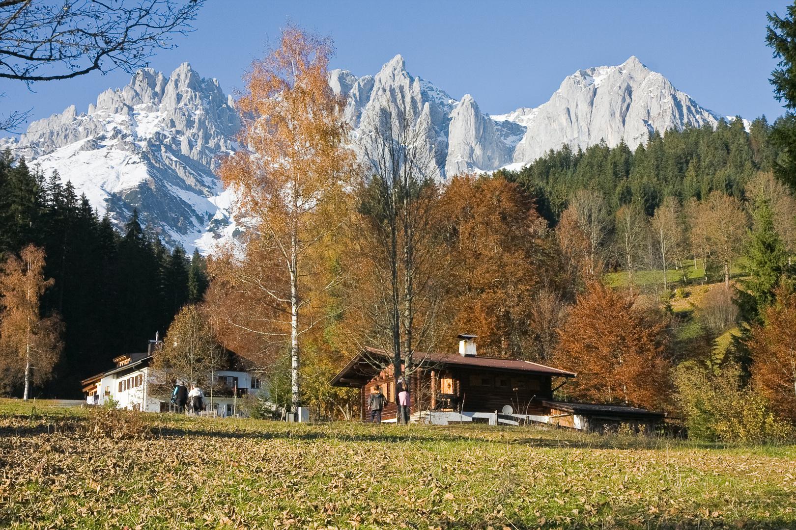 Wilder Kaiser im Herbst