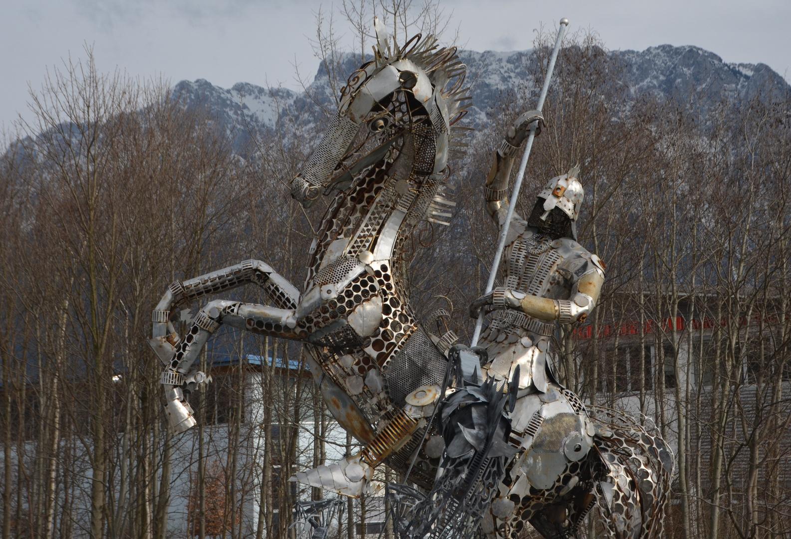 Wildes Pferd vorm Zahmen Kaiser