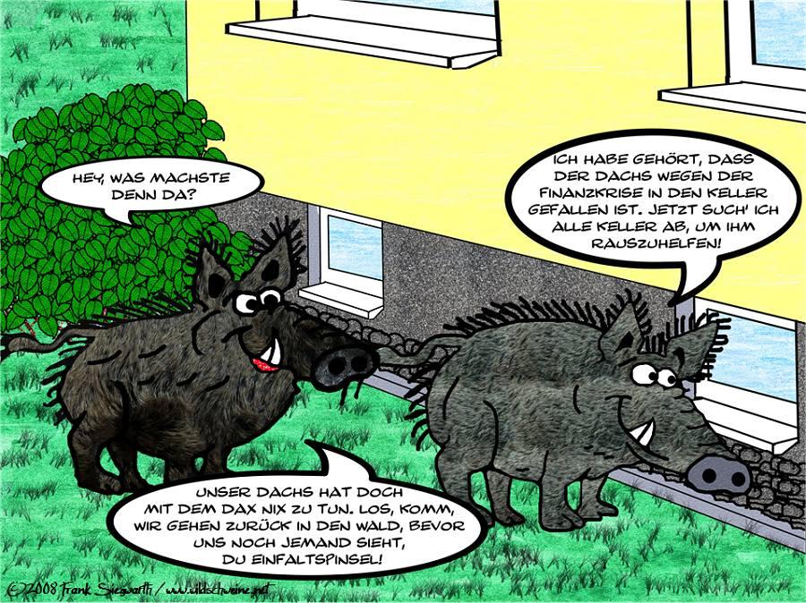 wildschweine im garten foto bild 2d grafik comics. Black Bedroom Furniture Sets. Home Design Ideas