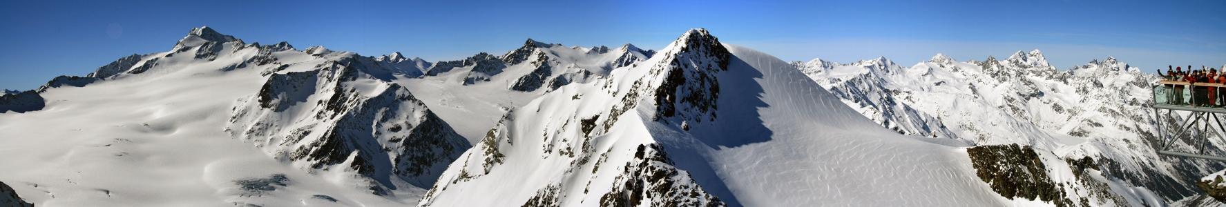 Wildspitze (3772m) - Panorama vom Tiefenbachkogl