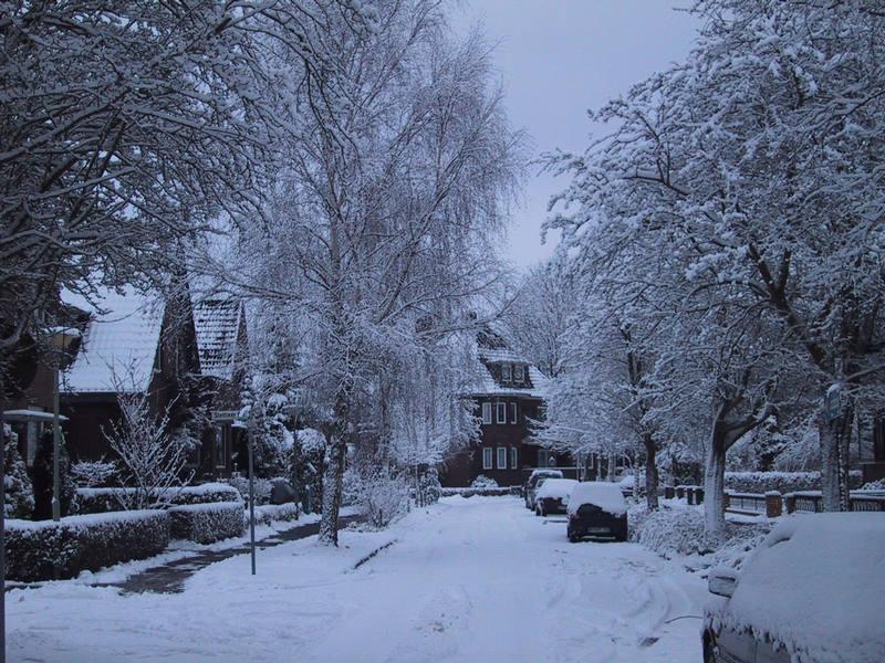 Wilhelmshaven im Schnee