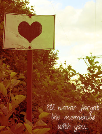 will never forget the moments with you..
