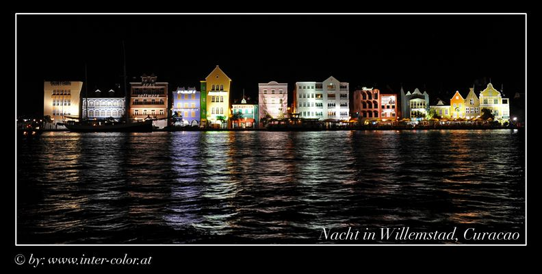 Willemstad bei Nacht