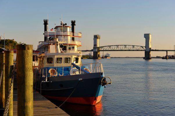 Wilmington at sunset