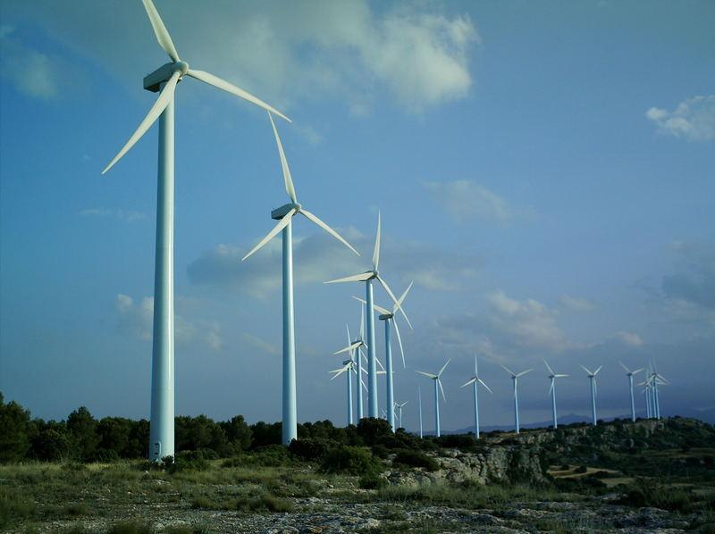 Wind farm at El Buste (Zaragoza) Spain