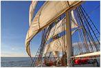 ~ Wind & Sonne ~ Törn mit der Brigg Mercedes am 28.9.2013 auf der Weser