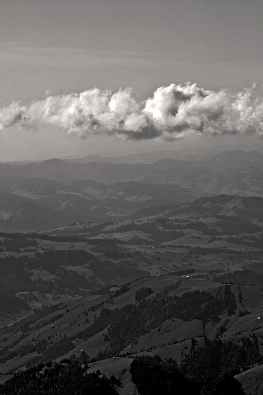 Windiger Ausblick vom Säntis
