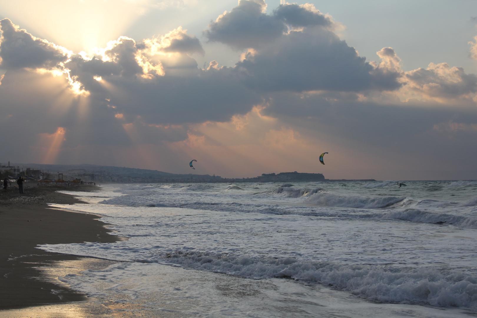 windiger Spaziergang auf Kreta