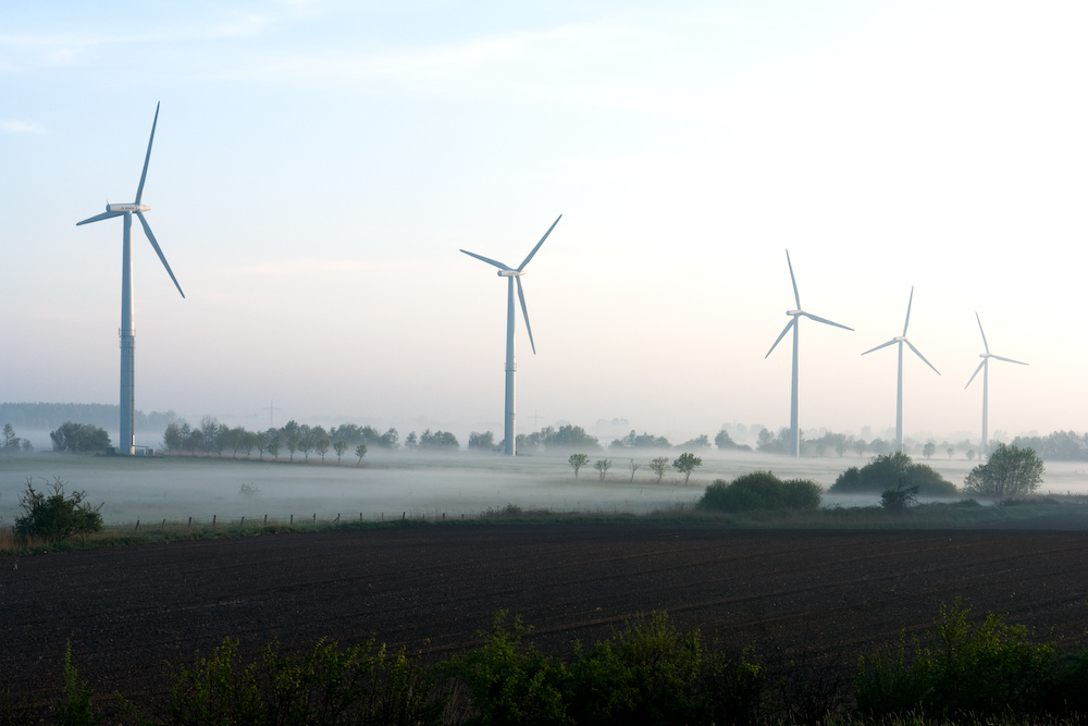 Windkraft am Morgen