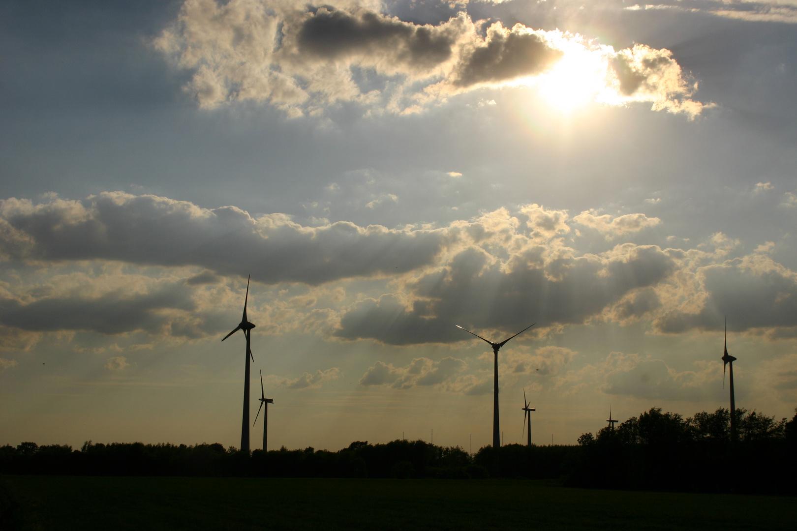 Windkraft vs Sonnenenergy